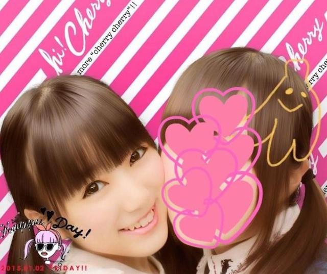 矢吹奈子とお姉ちゃんのプリクラ