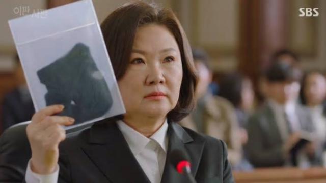 ミョンヒ役のキムヘスク