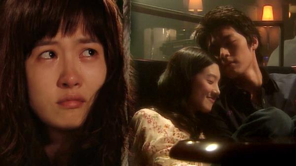 ジノンとヒジンを見て涙を流すサムスン