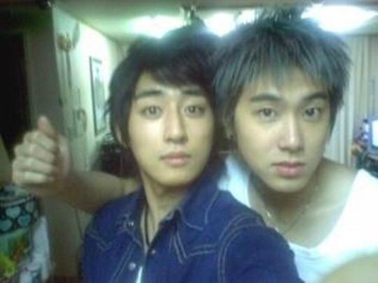 若い頃のソンホジュンとユノ