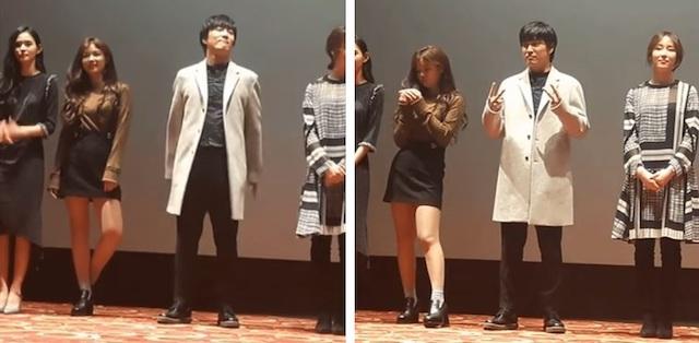 舞台挨拶で態度の悪いキムユジョン