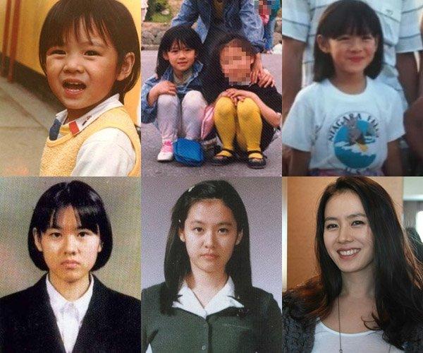 ソンイェジンの幼少期から学生までの写真