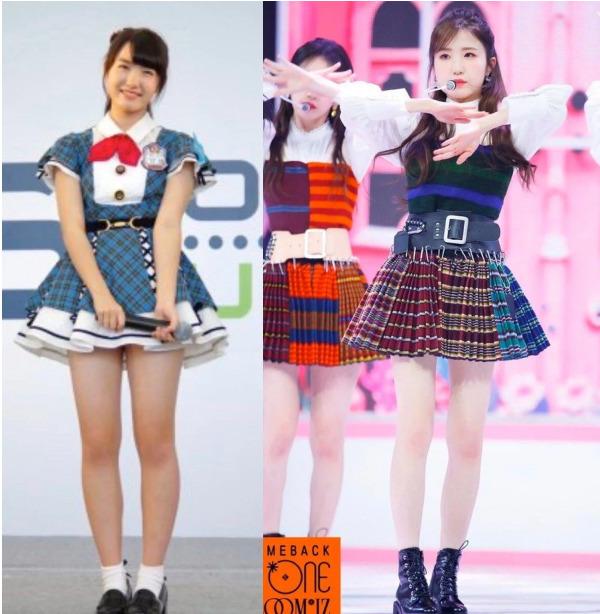 AKB48時代とIZ*ONE時代の比較