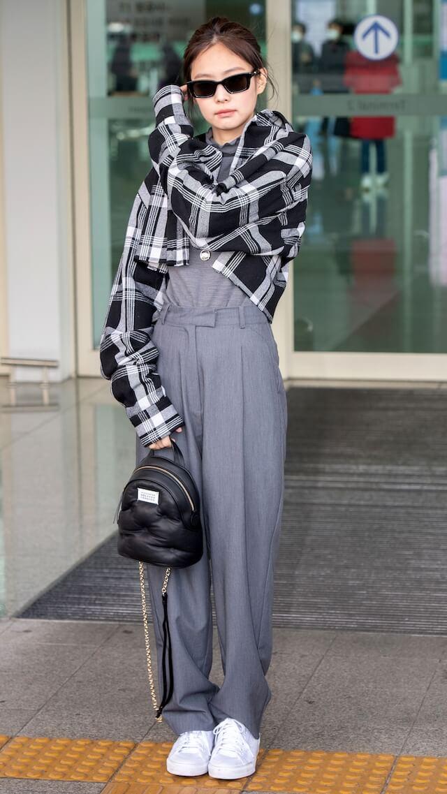 BLACKPINKジェニの最新空港ファッション