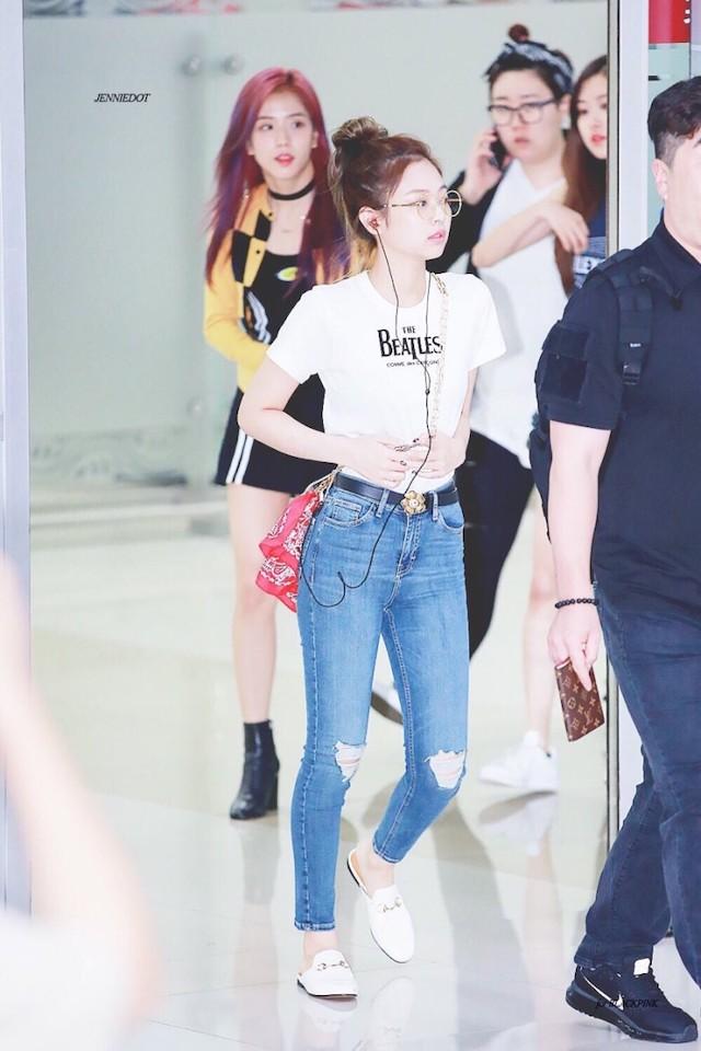BLACKPINKジェニのカジュアル空港ファッション