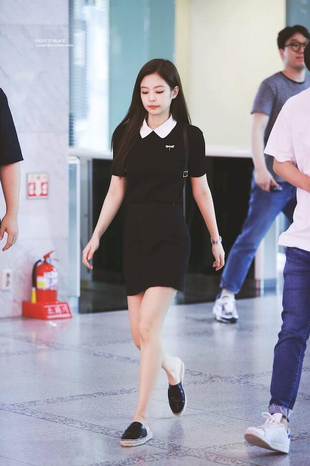 BLACKPINKジェニのかわいい空港ファッション
