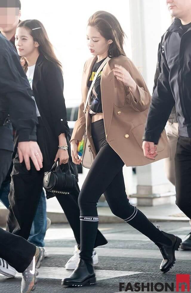BLACKPINKジェニのシックな空港ファッション