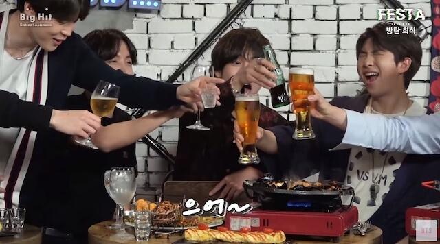 BTSメンバーのお酒事情