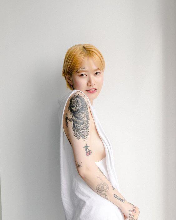 ジョングクの噂の相手イミジュの肩のタトゥー