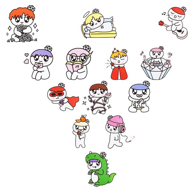 SEVENTEENのキャラクター全種類
