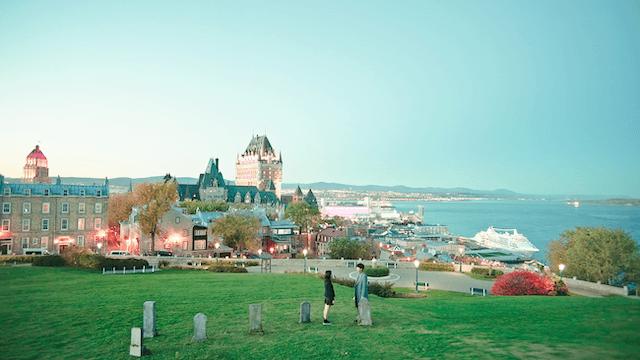 ケベックのお墓に立つウンタクとトッケビ