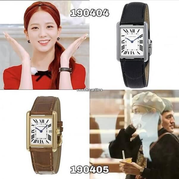 同じ時計をしているテテとジス