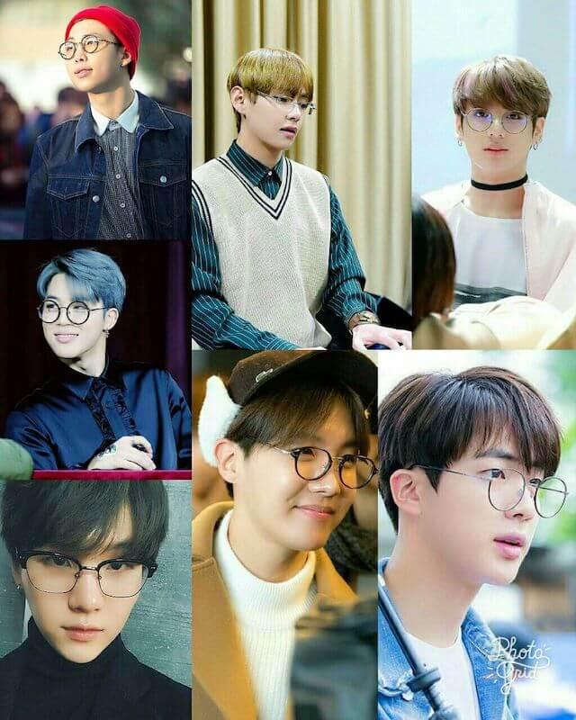 BTSのメガネ姿