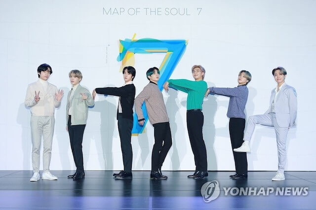 BTSの人気アルバム「MAP OF THE SOUL : 7」