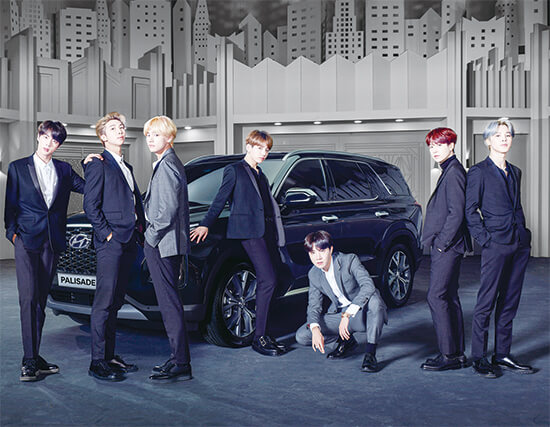BTSメンバーと車